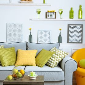 Colourful Living Room Yellow